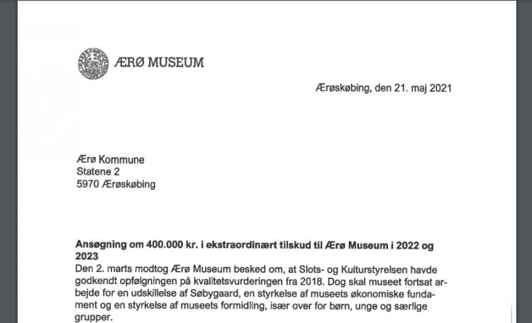 Ærø Museum får ekstra 1,2 millioner - men Søbygaard skal væk