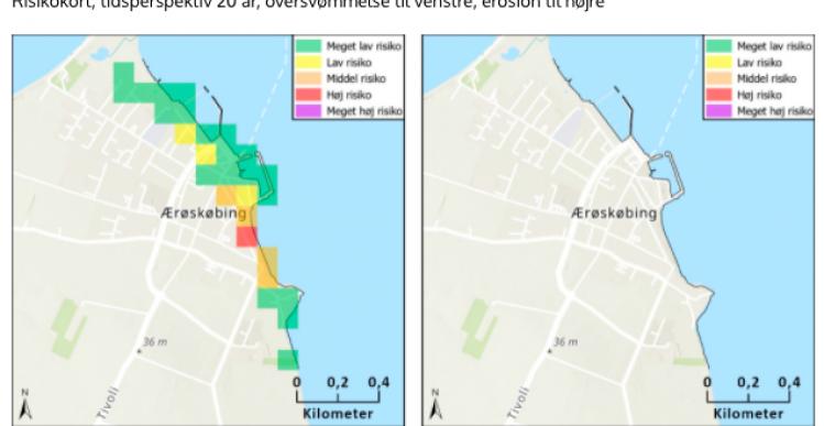 2 Ærø-områder har risiko for oversvømmelse