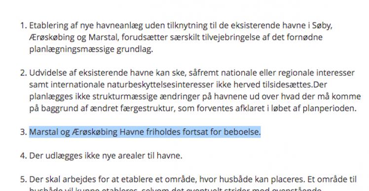 Lokalplaner på Ærø gælder ikke på vandet, mener havneudvalg