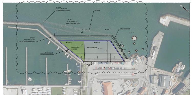 Ærøskøbing Havn skal udvides foran Netto med 4.500-6.200 kvm