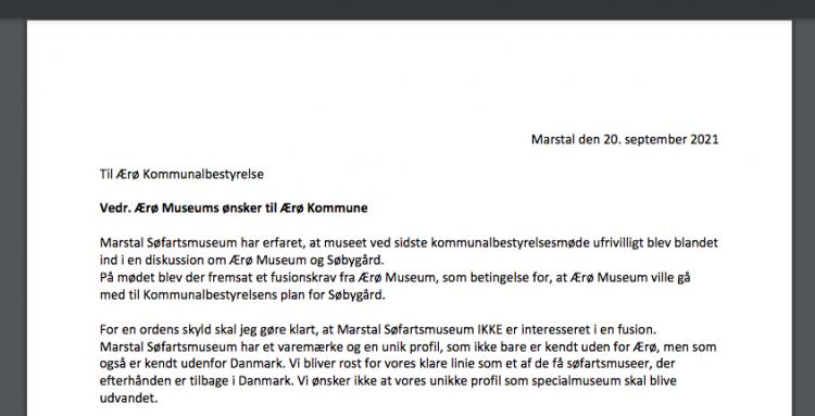 Marstal Museum protesterer mod sammenlægning med Ærø Museum