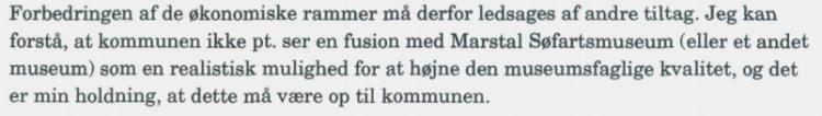 Gammelt nag mellem Marstal og Ærøskøbing forhindrer sammenlægning af museer
