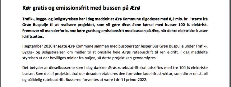 Elbusser overtager fra januar 2022