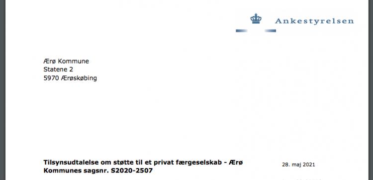 Ulovligt hvis kommunen støtter færgen ÆrøXpressen