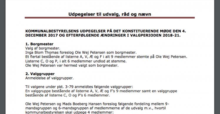 2 politikere sidder på 49 poster på Ærø