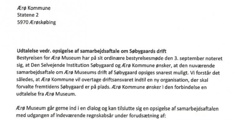Opsigelse: Ærø Museum kræver fusion med Marstal og milliontilskud