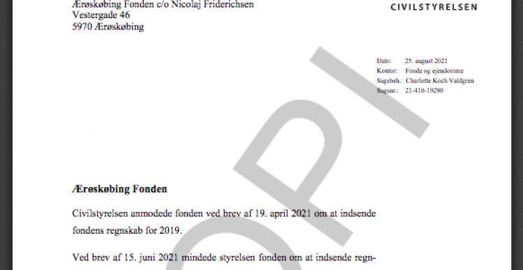 Ærøskøbing Fonden vil ikke svare Justitsministeriet